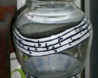 Music Note Vase