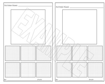 Zentangle Pattern Keeper for Step Outs (With Grid)