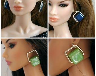 Doll fashion earrings