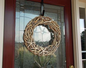 Coastal Wreath-Beach Wreath-Beach Wreaths for Front Door-Starfish Wreath-Seaside Wreath-Driftwood Wreath-Summer Wreaths for Front Door