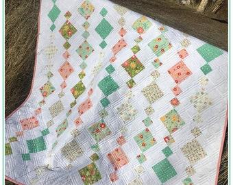 Chandelier Quilt Kit, Flower Mill Fabric, Fat Quarter, Moda Fabric