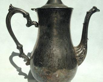 Silver plated tea set pitcher