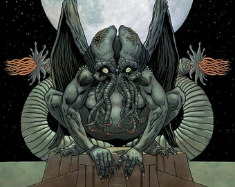 Dead Cthulhu Waits Dreaming (HP Lovecraft)