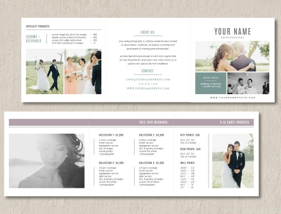 pricing templates for photographers photographer pricing