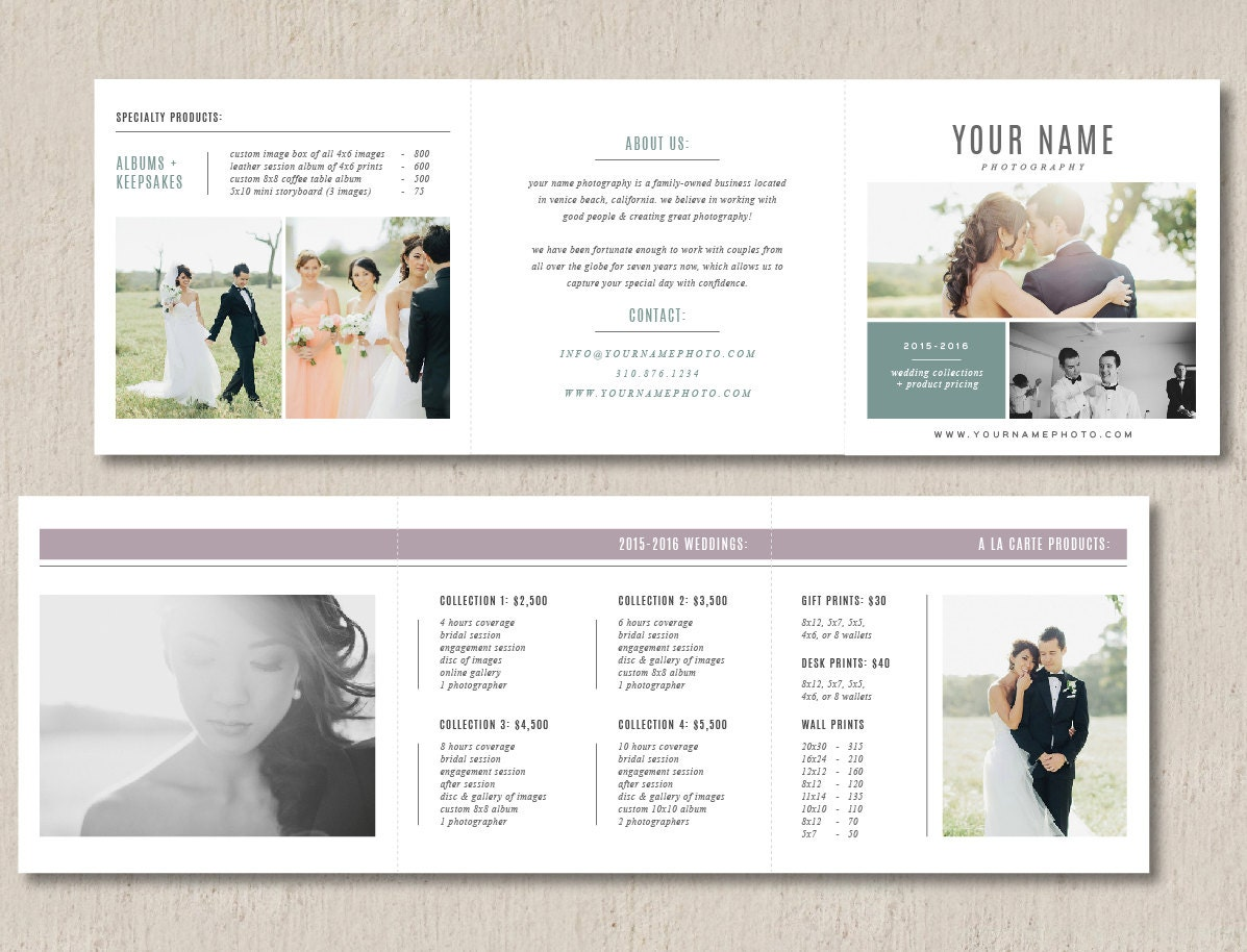 Pricing Templates for Photographers Photographer Pricing - photo#42