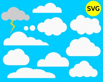 clouds clipart etsy rh etsy com free clouds and sky clipart