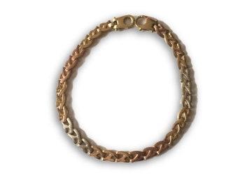 14k tricolor  Bracelet
