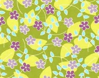 Michael Miller Floating Blossoms Green fabric - 1 yard