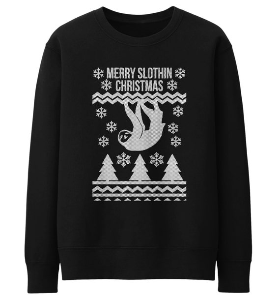 Merry Slothin Christmas Jumper Fair Isle Style Sloth Sweater