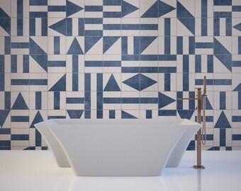 Floor Tile Decals - Flooring - Vinyl Floor - Bathroom flooring - Kitchen Flooring - Tile Stickers - Tile Decals -  Pack of 32 - SKU:BRATS