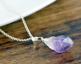 Amethyst Crystal Necklace, Amethyst Necklace, Healing Crystal Necklace, Crystal Necklace, Reiki Crystal, Amethyst Jewelry, Raw Amethyst