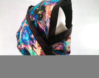 Acid Rainbow Convertible Cowl Hood and Facemask