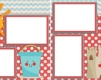 Cute Beach - Digital Scrapbooking Quick Pages - INSTANT DOWNLOAD