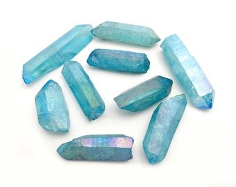 Aqua Aura Points - Crystal Points Aqua Aura Blue  (OB7B9)