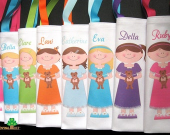 Slumber party favors sleepover over party favors birthday summer fun girl party goody tote bags for girls sleepunder personalized