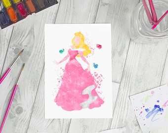 Disney Inspired Sleeping Beauty Aurora A5 Print | Available in 2 colours