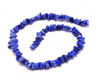 70 color mother of Pearl chips beads blue