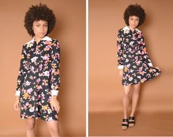 Vintage 60s Flower Child Dress