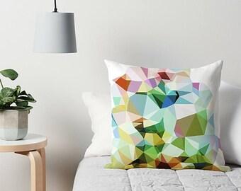 Throw Pillow, Geometric Pillow, Art Throw Pillow, Geometric Cushion, Accent Pillow, Couch Pillow, Modern Pillow, Sofa Pillow, Pink, Blue