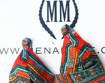 Mena Mode Ankara Fabric Bralette