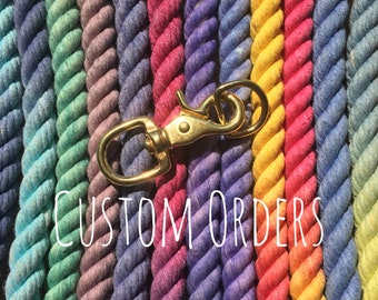 2-tone 5 Foot Rope Leash (select colors)