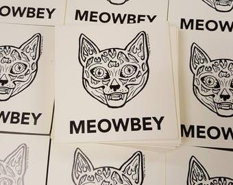 MEOWBEY Vinyl Sticker Slap They Live Movie Mashup