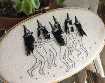 Witch Coven 5x7 Oval Embroidery Hoop