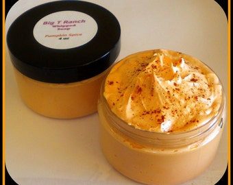 """Foaming Bath Butter Whipped Soap -  Soap in a Jar - Pumpkin Spice - 4 oz - Featured in """"Creating Vintage Charm"""" Fall 2012 Issue"""