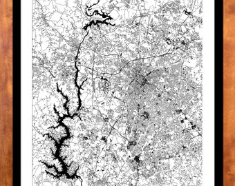 Charlotte map etsy charlotte street map gateway cities regional cities various sizes malvernweather Choice Image