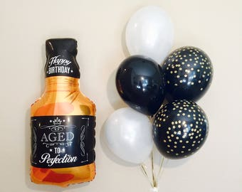 Whiskey Bottle Balloon, Aged to Perfection, 21st Birthday,  Whiskey, 40th Birthday, 50th Birthday, Whiskey Bottle, 30th Birthday