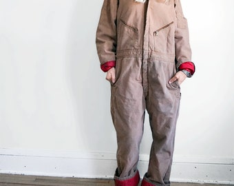 Vintage Walls Zero-Zone Insulated Outerwear - Distressed Work Apparel Duck Coveralls Overalls - Men's Medium Large - Women's Size XL XXL