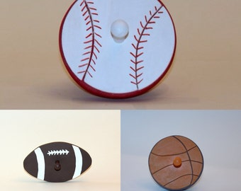 Sports Theme Wall Pegs
