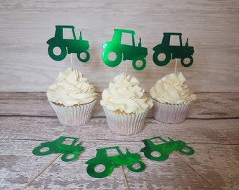Tractor cake toppers | cupcake toppers | Farm theme | Birthday | Cake smash | Birthday cake topper | Birthday Party | Custom cake topper