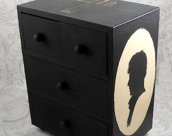 Sherlock Holmes Stash Jewelry Box - Black Drawers