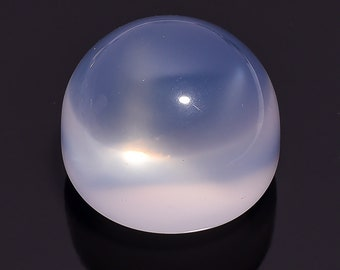 90.6 Ct. 100% Natural Blue Milky Opal Quartz Round Cabochon Loose Gemstone 25X25X20 HB-636
