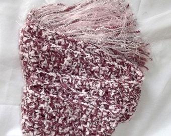Handmade Crochet Scarf, Pink Scarf, Mauve Scarf, Soft Scarf, Neck Wrap, Fiber Jewelry