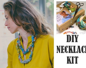 DIY Fabric Necklace, Make Your Own Fabric Necklace, DIY Jewelry Making Kit