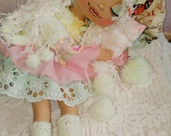 Poupée à la main de poupée - Textile - art