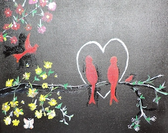 Cardinals In Love Painting