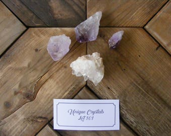 Amethyst & Quartz Crystal Formation - Solar Eclipse Bathed