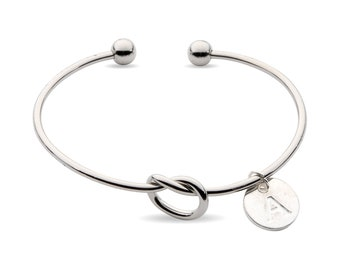 Bridesmaid Gift w/ Box, Bridesmaid Initial Bracelet, Tie the Knot Bracelet Gift, Bridesmaid Proposal, Bridesmaid Gifts, Bridesmaid Bracelet