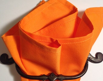 cotton pocket square pumpkin orange