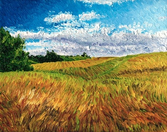 Giclee print, Field of Grass, 8 x 10 in.