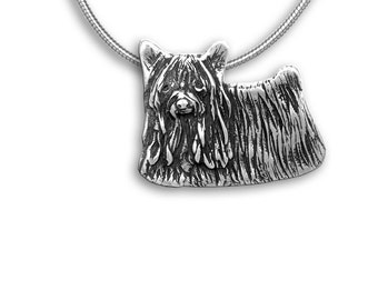 Sterling Silver Yorkie Pin Pendant