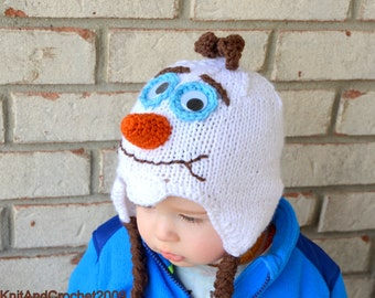 Frozen Olaf Hat / I like Warm Hugs / Olaf Beanie / Do you want to build a snowman