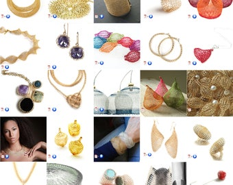 31 Wire crochet patterns package - jewelry making tutorials - video instructions - learn crochet with wires - January 2018