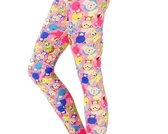 Pink Party Animal - Patterned Leggings