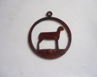 Lamb in circle livestock jewelry pendant #P26