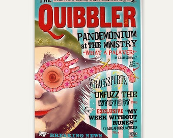 Quibbler magazine - Two sided cover and interior pages - UPDATED VERSION