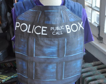 Blue Police Box Doctor Who Inspired Mei Tai Baby Carrier